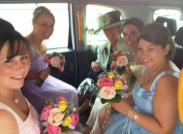 London Cab for weddings in Knutsford